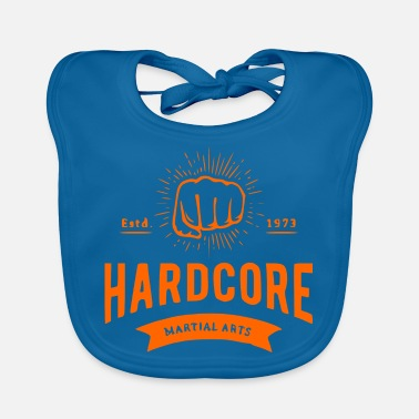 Letter Boxing Boxing fist with lettering orange boxing fighter - Baby Bib