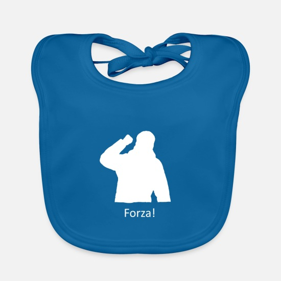 Power Baby Clothes - Fist pose forza - Baby Bib peacock-blue