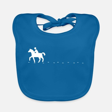 Riding School Riding horse rider jockey jumping riding hoofprint - Baby Bib