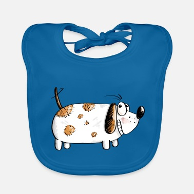 Cats And Dogs Collection Fat Funny Dog - Dogs Comic - Baby Bib