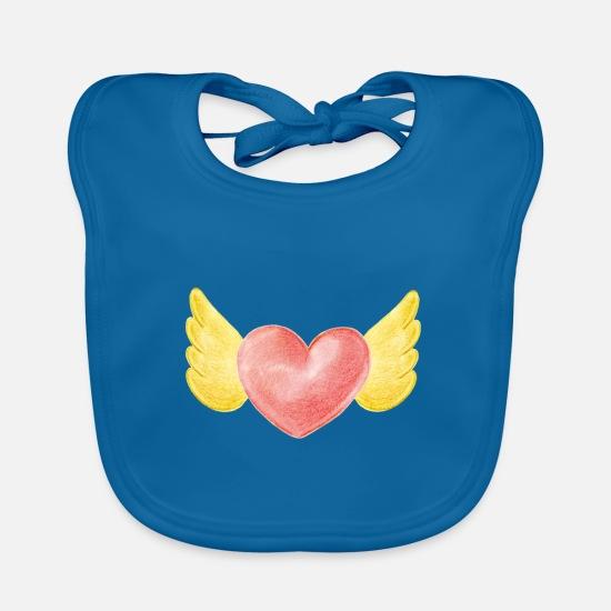 Herz Flügel Engel Liebe Liebesbeweis Geschenk Lätzchen