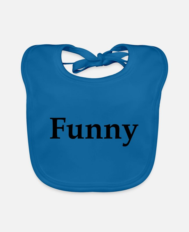 Funny Bowling Baby Bibs - Funny - Baby Bib peacock-blue