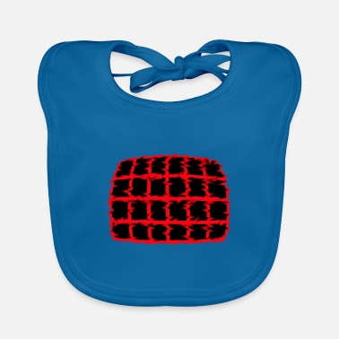 Red And Black Net in red and black - Baby Bib