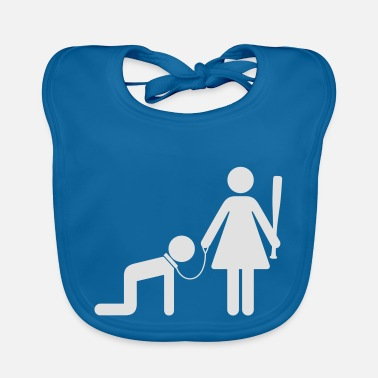 Domina A Woman Holds A Man As A Slave - Baby Bib