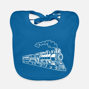 Locomotive Locomotive / Locomotive 02_white - Baby Bib