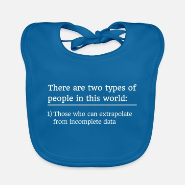 Statistics Math statistics extrapolation saying - Baby Bib