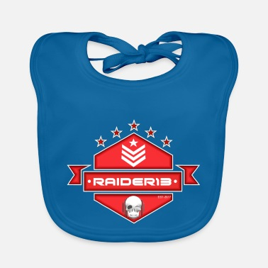 13 Raider Logo Red - Babero