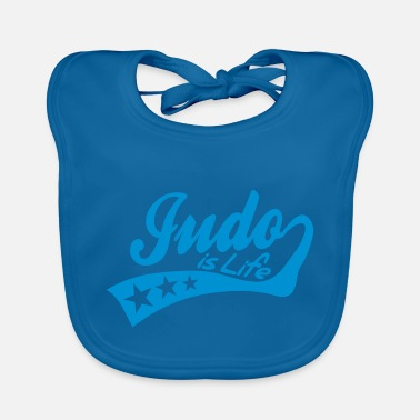 judo is life - retro - Baby Bib