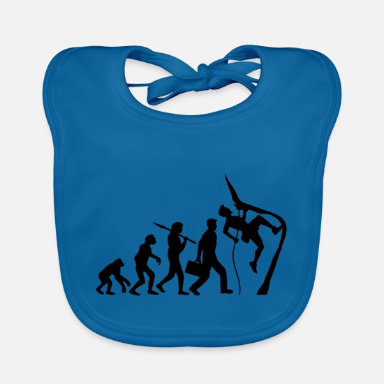 Climbing Baby Clothes - Climbing rope climbers evolution - Baby Bib peacock-blue