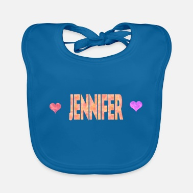 Jennifer Heart Jennifer - Baby Bib