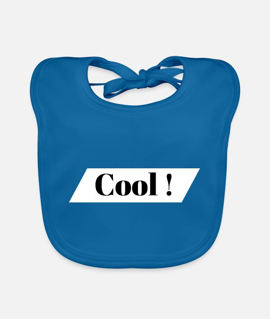 Word Baby Bibs - Cool Toll Super Prima Saying Gift Idea - Baby Bib peacock-blue
