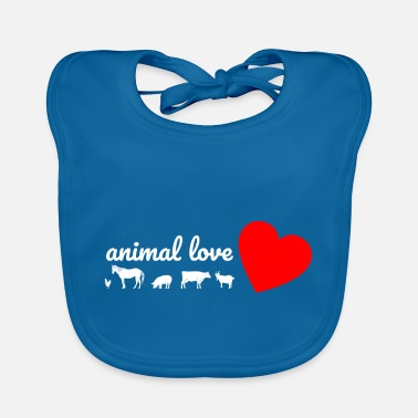Animal Love love of animals - Baby Bib