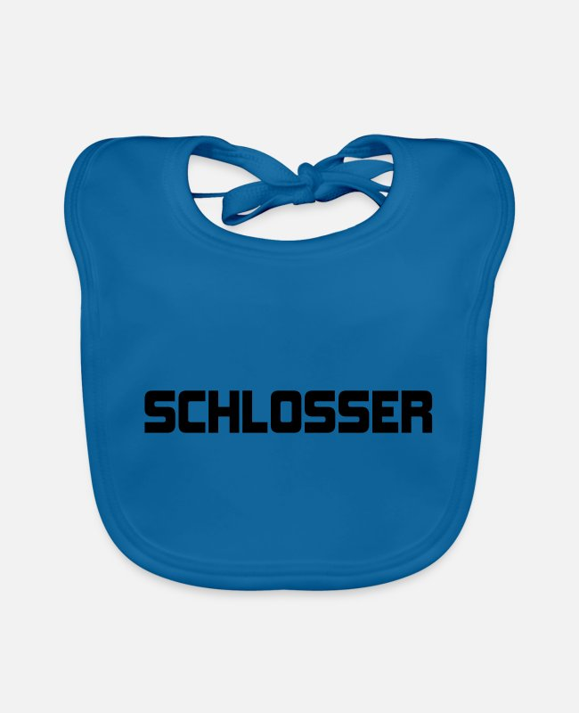 Building Site Baby Bibs - LOCKERS - different colors - Baby Bib peacock-blue