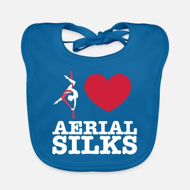 Sports Love Aerial Silks - Baby Bib