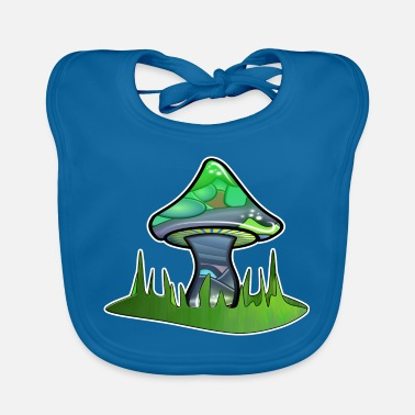 Magic Magic mushroom on the meadow - Baby Bib