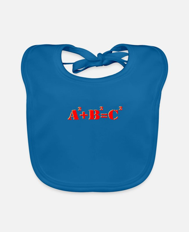 Maths Teacher Baby Bibs - pythagorean theorem a square - Baby Bib peacock-blue