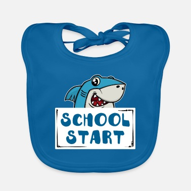 Start Of School School start Funny shark start school start school - Baby Bib