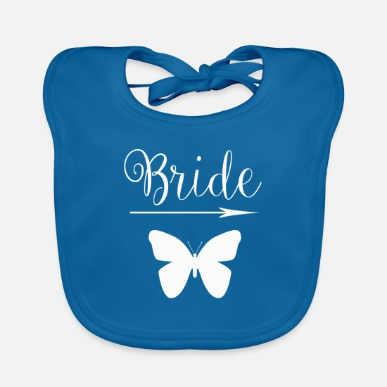 Pound Baby Clothes - Wedding marriage marry love wife pounding love - Baby Bib peacock-blue