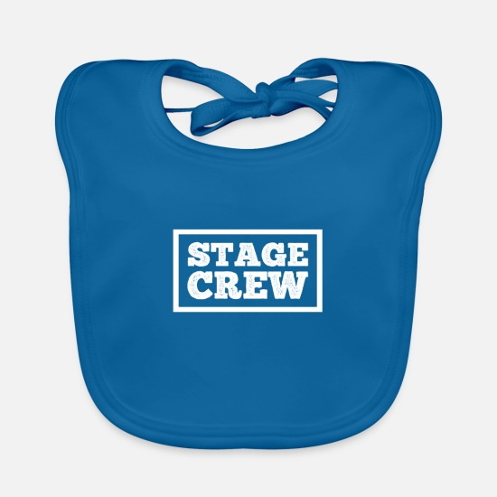 Theatre Baby Clothes - Stage Crew gift for Theatre Lovers - Baby Bib peacock-blue