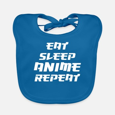 Japanimation Eat Sleep Anime Repeat Cool Gift Birthday - Baby Bib