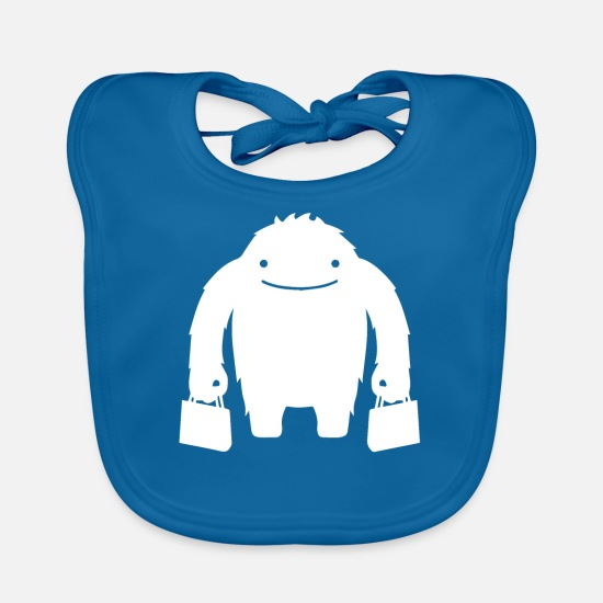 Birthday Baby Clothes - monster - Baby Bib peacock-blue