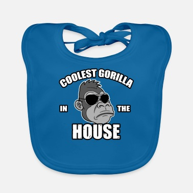Gorilla Monkey Gorilla Animals Animal Cool Kid Comic Gift - Baby Bib