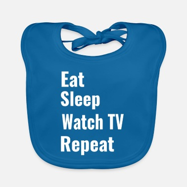 Watch Tv watch TV - Baby Bib