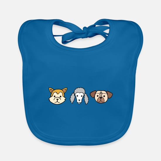 Dog Baby Clothes - Dog dog lover pet dog owner gift - Baby Bib peacock-blue
