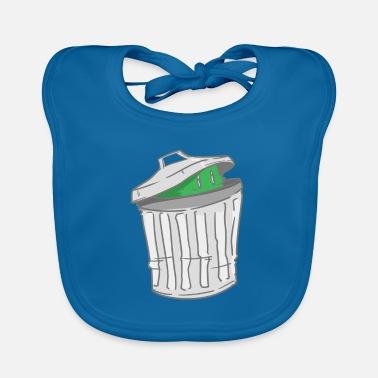Trash Can Trash - trash can - hide - Baby Bib