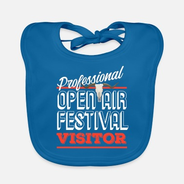 Concertgoers Professional open air visitor funny gift - Baby Bib
