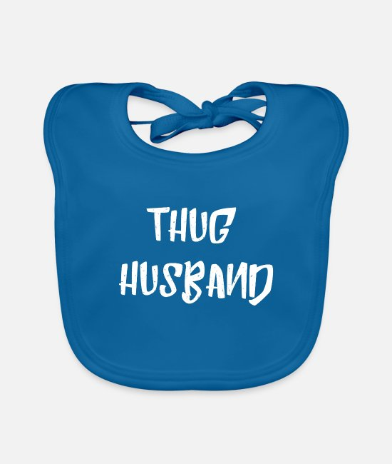 Husband Baby Bibs - Thug Husband husband fiancé gifts - Baby Bib peacock-blue