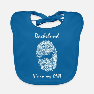 Dachshund Its in my DNA Langhaardackel (0121) - Baby Bib