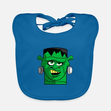 Mary Shelley Frankstein's Monster Cartoon Head - Baby Bib