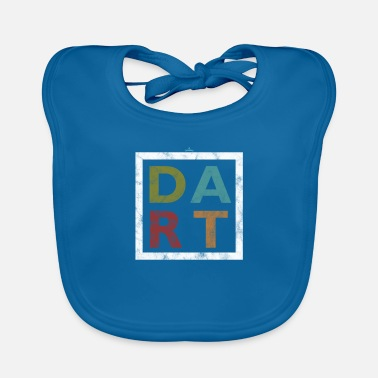 Bar-pub Distressed Dart Typography Bar Pub Tournament - Baby Bib