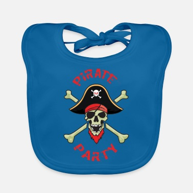Pirate Party Pirate Party Skull And Bones - Baby Bib