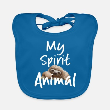 Spirit Sloth Funny Design - My Spirit Animal - Baby Bib