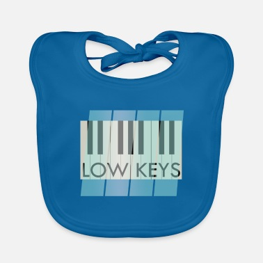 Low-key Piano Piano Low Keys Music - Baby Bib