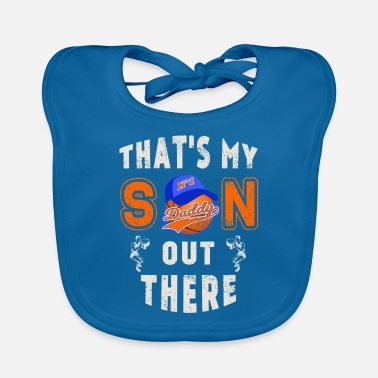Basketball Fathers Day That's My Son out There - Baby Bib