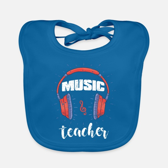 Gift Idea Baby Clothes - Music teacher - Baby Bib peacock-blue
