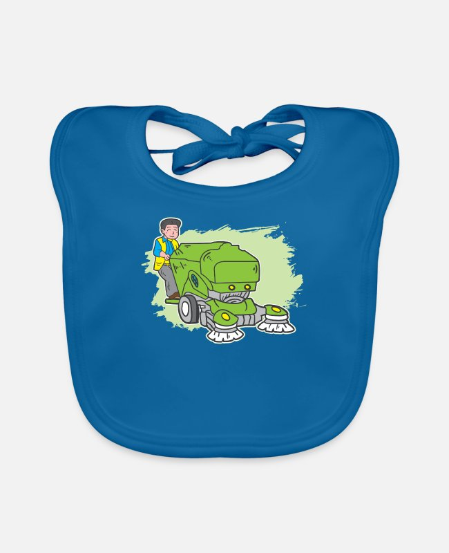 Clean (what It Is) Baby Bibs - Clean Machine Housekeeper Cleaner - Baby Bib peacock-blue