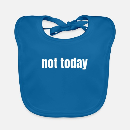 Today Baby Clothes - not today - Baby Bib peacock-blue