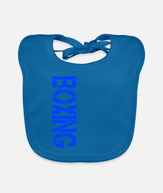 Fighter Baby Bibs - boxing - Baby Bib peacock-blue