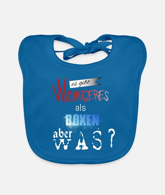 Fighter Baby Bibs - boxer - Baby Bib peacock-blue