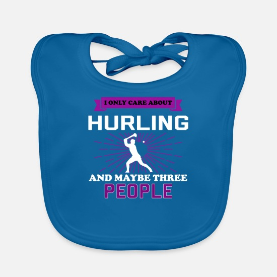 Hurling Baby Clothes - Hurling And Maybe 3 People - Baby Bib peacock-blue