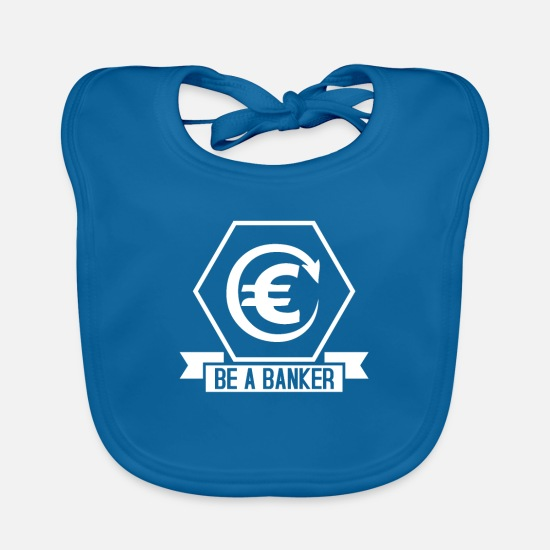 Birthday Baby Clothes - banker - Baby Bib peacock-blue