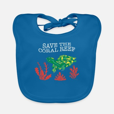 Coral Tortoise Coral Save The Coral Reef Shirt - Baby Bib