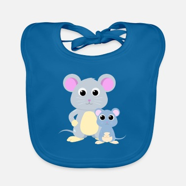 Baby Mouse Mouse with baby mouse - Baby Bib
