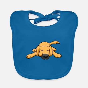 Dog Cartoon Cute dog cartoon cartoon - Baby Bib