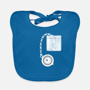 Pocket Watch Pocket watch shirt pocket - Baby Bib