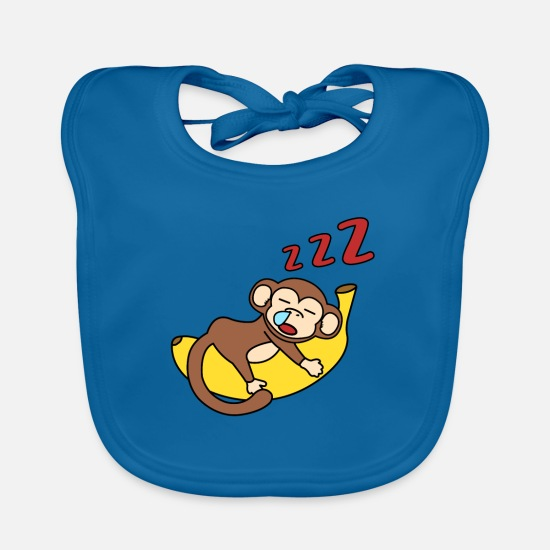 Monkey Baby Clothes - monkey - Baby Bib peacock-blue